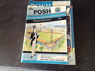 Peterborough United V Maidstone United. 19/8/89