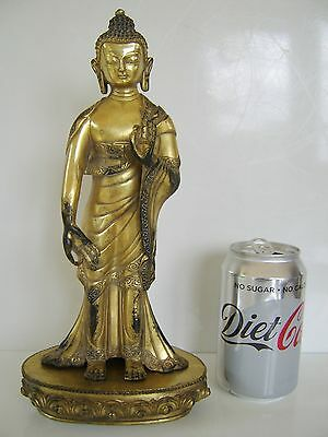 OLD Antique Chinese BRONZE BUDDHA STATUE - GOD FIGURE VERY RARE EXAMPLE