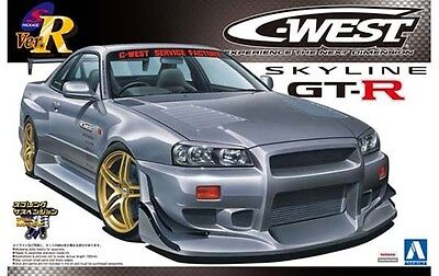 1/24 AOSHIMA 004101 NISSAN C-WEST R34 GT-R Plastic Model Car Kit