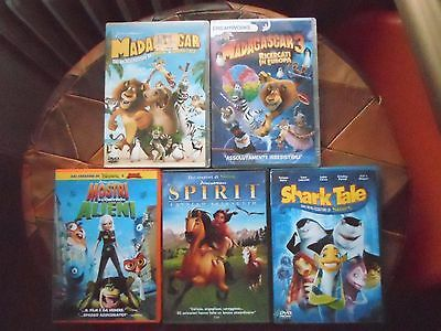 lotto stock dvd film cartoni animati dreamworks,offerta