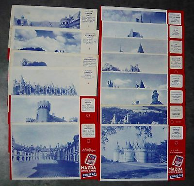lot de 14 buvards pile Mazda-Chateau de France