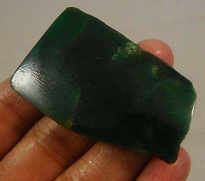 85 Cts. 100% Natural Free From Green Jade Slice Rough Minerals Specimen SNG294