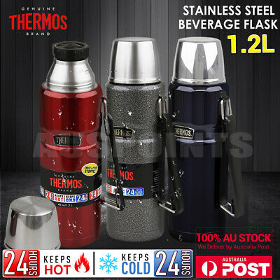 NEW Thermos Stainless Steel Vacuum Insulated Flask King Bottle 1.2L Red Blue
