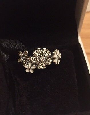 New Pandora Shimmering Bouquet Ring Silver S925 ALE 52 54 56 58