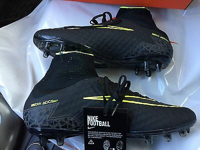 $285 NEW Nike Hypervenom Phantom II 2 FG Soccer Cleats Black Pitch Dark Pack