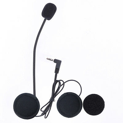 Wired Headset Mic/Speaker + Clip Mount for V6 V4 Motorcycle Bluetooth Intercom
