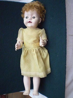 "DOLL ""MADE IN ENGLAND""  20 T  PEDIGREE ? HARD PLASTIC VINTAGE 1950's"