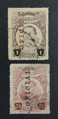Momen: Mexico Stamps #o113,o117 1918 Used $125 R1794S #11221