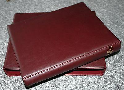 4 Ring Prinz Stamp Album Empty : Red: Holds Stock Sheets/ Album Pages+ Slipcase