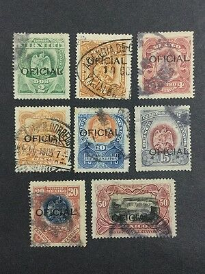 Momen: Mexico Stamps #o65-72 1910 Used $119 R1794S #11219