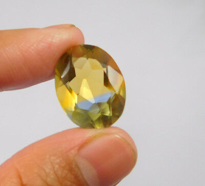 13 Cts. Treated Faceted Oval Shape Ametrine Cut Loose Cab Gemstone NG1937