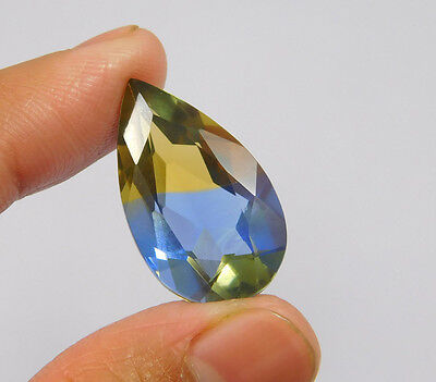 16 Cts. Treated Faceted Pear Shape Ametrine Cut Loose Cab Gemstone NG2021