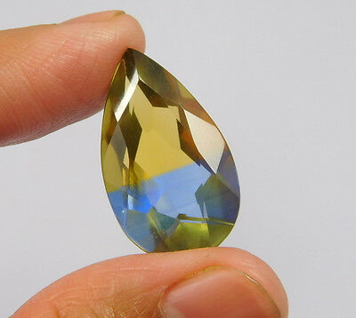 16 Cts. Treated Faceted Pear Shape Ametrine Cut Loose Cab Gemstone NG2024