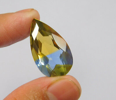 15 Cts. Treated Faceted Pear Shape Ametrine Cut Loose Cab Gemstone NG2012
