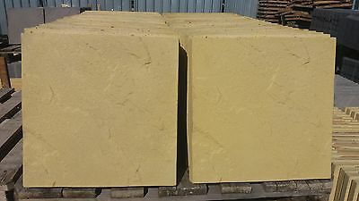 50 BUFF CONCRETE RIVEN PAVING SLABS 450X450X38mm/ 10m2 Coverage (all included)