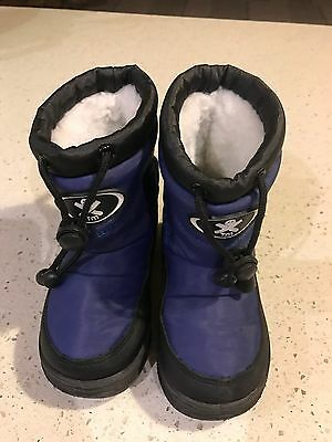Boys Snow Boots Shoes Size US 7 8 Or EUR 23 24 Worn Once