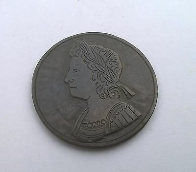 Interesting George Ii Halfpenny Coin With Re - Engraved Bust / Engraved Coin
