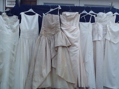 Joblot 8 X Ladies Long Wedding Formal Dresses Church Prom Dress Maker Party #1