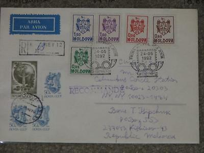 Cover, Moldova to the U.S., 1992