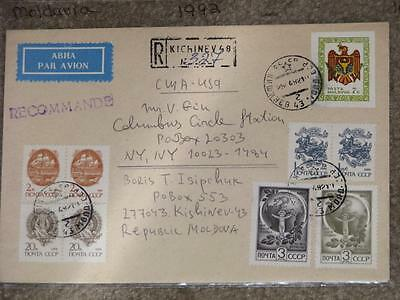 Cover, Rep. of Moldova to the Columbus Circle Station, U.S., 1992