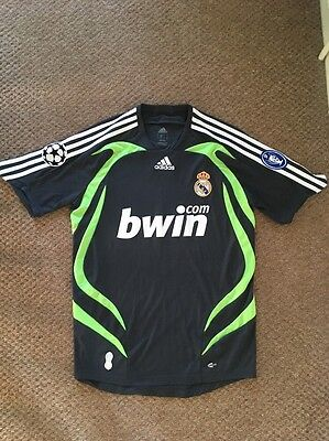 Official Adidas Real Madrid Third 3rd Shirt - 2007/2008 - Size Small