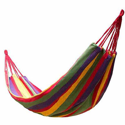 280*150cm 2 Person Hammock (Camping Bed Double Sleeping Bag Picnic Blanket Camp)