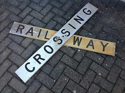 Railway Crossing sign made of two parts