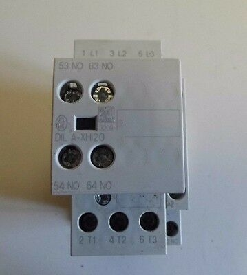 MOELLER DILM (C)17 CONTACTOR Fitted With DILA XH120 Auxillary Contact