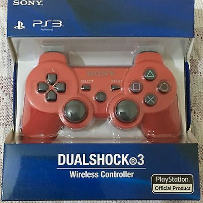 New Sony Playstion 3 Sixaxis Dualshock 3 Wireless Bluetooth Controller-Red