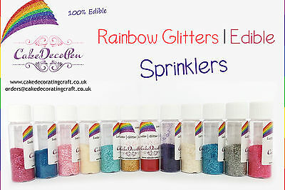 Rainbow Glitter | 100 % Edible | Cake Decorating Craft | 7 Grams | Purple