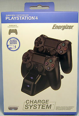 PDP Energizer PS4 Charge System for PlayStation 4 Controllers Version 5.0 - NEW