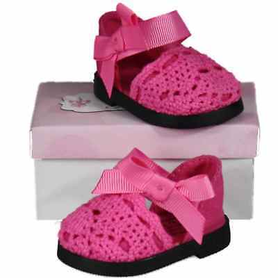 """18"""" Doll Pink Lace Espadrille Shoes +Box Fits American Girl Clothes &Accessories"""
