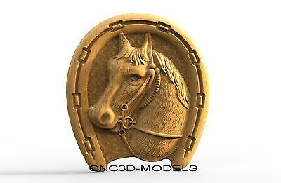 3D Model STL for CNC Router Carving Artcam Aspire Horse Pano Animal 8143