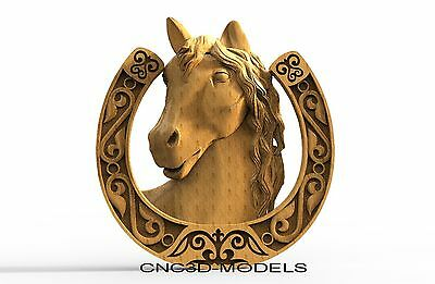 3D Model STL for CNC Router Carving Artcam Aspire Horse Pano Animal 8144