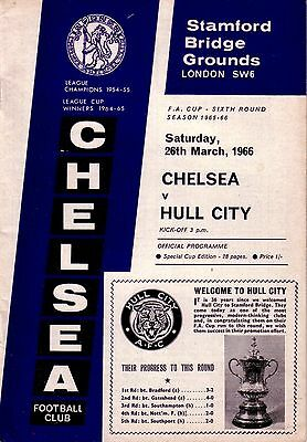 CHELSEA v HULL CITY 1965/66 FA CUP 6TH ROUND