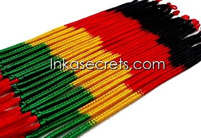 50 Rasta Friendship Bracelets Double Knot