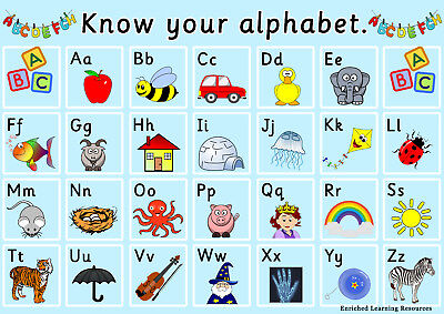 Alphabet/colour/number/2D/3D Shape Childminder Early Years Learning Sen Posters.