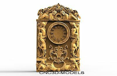 3D Model STL for CNC Router Engraver Carving Artcam Aspire Clock Women Girl 8166