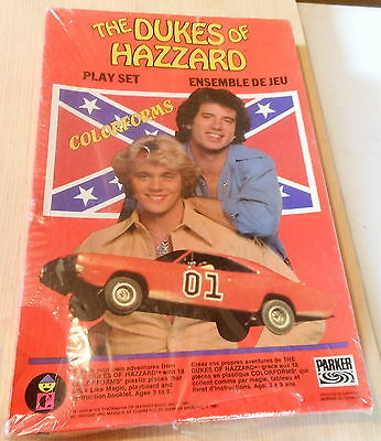 Vintage Classic TV Dukes of Hazzard Toy PlLAY SET COLORFORMS (1981) Sealed NEW