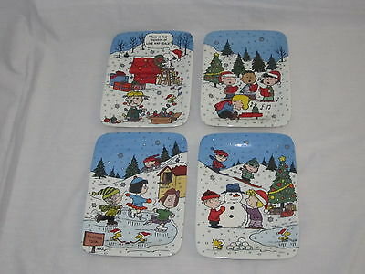 Danbury Mint Peanuts Christmas With Charlie Brown Panoramic Plate Collection set