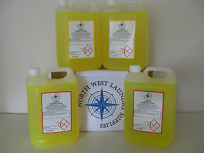 4 x 5 LITRE STRONG LEMON DISINFECTANT CLEANING PRODUCT LEMON CLEANER JANITORIAL
