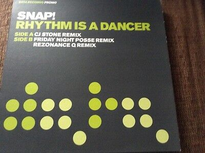 "Snap - rhythm is a dancer, excellent condition 12"" vinyl promo"