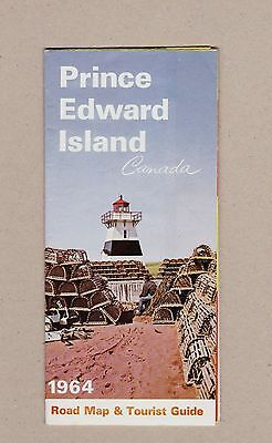 1964 Prince Edward Island Road Map and Tourist Guide. Canada's Garden Province