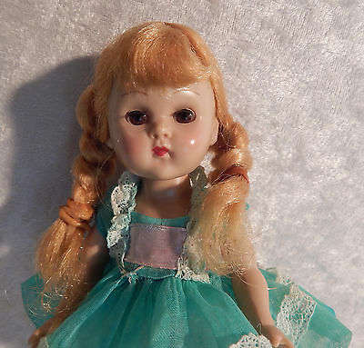 1956 Straight Leg Walker Molded Lash Ginny Doll In Vogue Tagged Dress & Pants