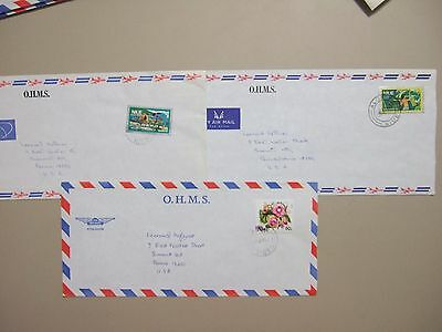 Three Pacific Is Niue OHMS covers with FLOWER stamps