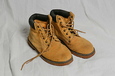 Mens Leather Work Boots - Size 9