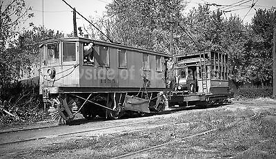 Akron Transportation Co. Electric Sweeper #1155 Original Negative Tram