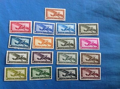 Indochine Poste Aérienne 17 Timbres / Neuf / Indochina / Stamp Indo China Stamps