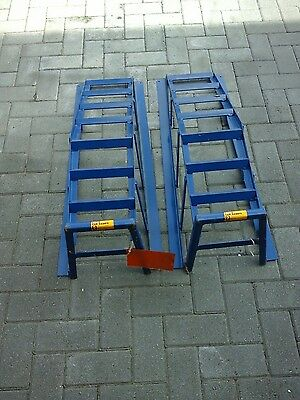Halfords Car Service Ramps 2 Pieces 1 Tonne Safe Working Load Per Stand