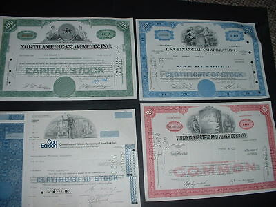 SCRIPOPHILY VINTAGE CERTIFICATES,  5 DIFFERENT U.S.A.  SHARE / STOCK BONDs